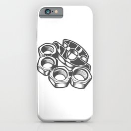 """Fashion Modern Design Print """"Brass Knuckles""""! Rap, Hip Hop, Rock style and more iPhone Case"""