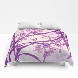 vice versa floral in purple Comforters