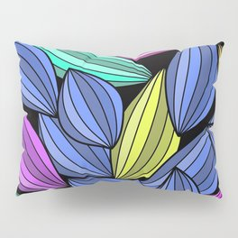 Colorful Stylized Leaves Pillow Sham