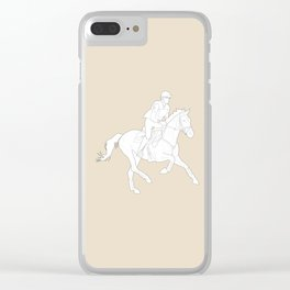 Eventing in Tan Clear iPhone Case