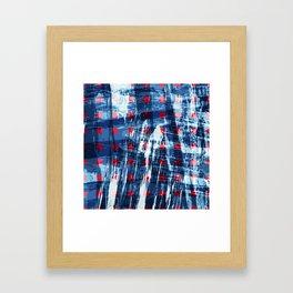 dots on blue ice Framed Art Print