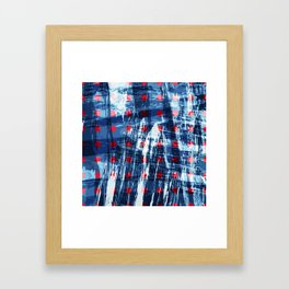 dots on blue ice Framed Art Print