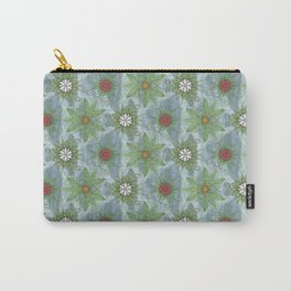 English Garden Pattern Carry-All Pouch