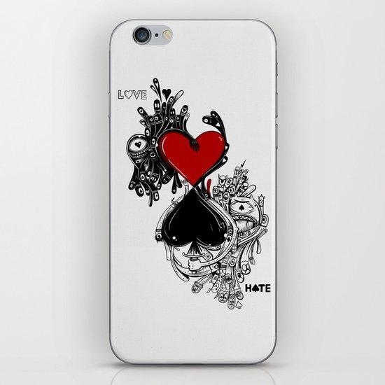 Love Hate iPhone & iPod Skin