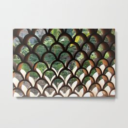 Patterned Window Metal Print