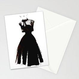 Retro Fashion Dress Series - Retro Fashion Dress Median Stationery Cards