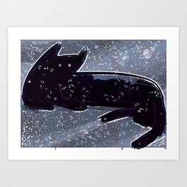 Constellation Cattus Reclinus Art Print