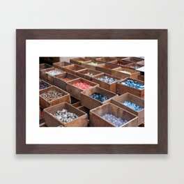 Bead collection at Paris Framed Art Print