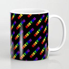 Be You   #BEYOU    Hashtag Pattern Coffee Mug