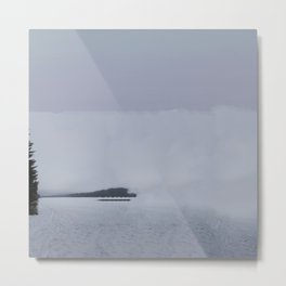 Fog Lake Metal Print