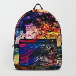 painted marble Backpack