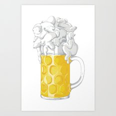 Ice Cold Bee(a)rs Art Print