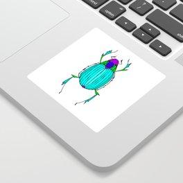 Egyptian Scarab Beetle Turquoise Sticker