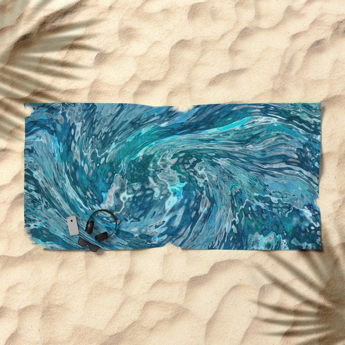 Fantastic abstract wave Beach Towel