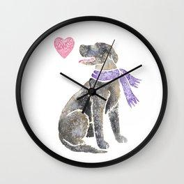 Watercolour Irish Wolfhound Wall Clock