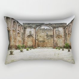 Old Courtyard Rectangular Pillow