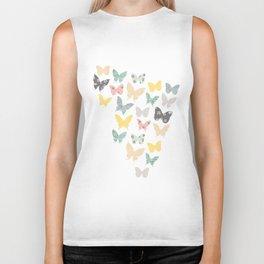 butterflies pattern Biker Tank