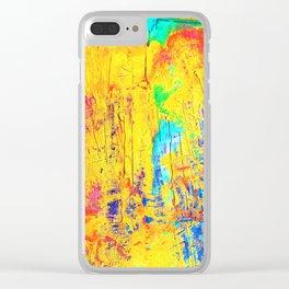 Imaginäre Landschaft - Ölgemälde auf Leinwand Clear iPhone Case
