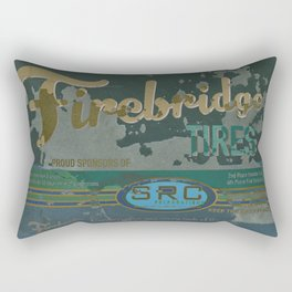 SRC Preparations Firebridge Tires Vintage Poster No1 Rectangular Pillow