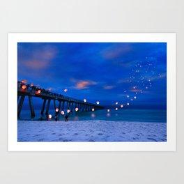 Inspirational Art Print Paper Lanterns Landscape Art Print