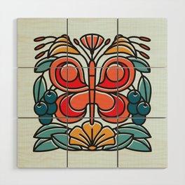 Butterfly tile Wood Wall Art