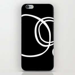 Black and White Circles Abstract Modern iPhone Skin