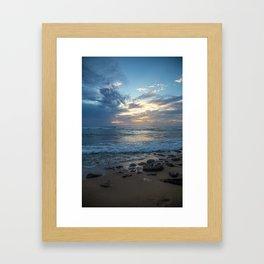 Puerto Rico Stormy Sunset Framed Art Print