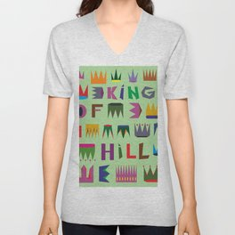 king of the hill Unisex V-Neck