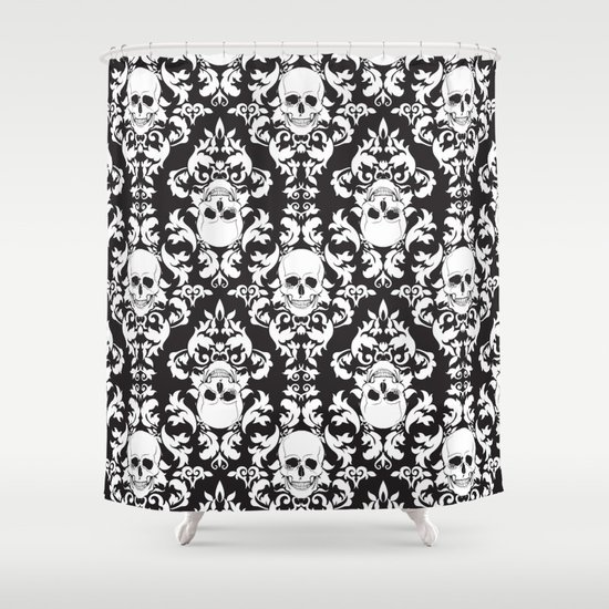 Curtains Ideas black and white patterned curtains : Black-white, Graphic-design, Pattern and Vector Shower Curtains ...