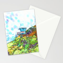 Life Guard Station On The Rocky Beach  Stationery Cards