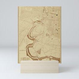 Map of Philadelphia 1892 Mini Art Print