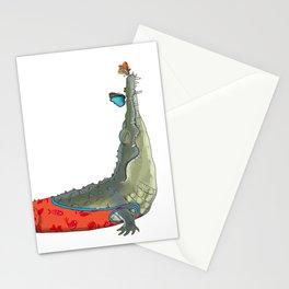Yoga mood Crocodile Stationery Cards