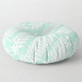 Mint Leaflets Floor Pillow