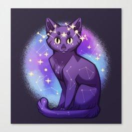 Starry Cat Canvas Print