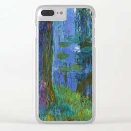 "Claude Monet ""Saule pleureur et bassin aux nymphéas"" (Weeping Willow and Water Lily Pond) Clear iPhone Case"