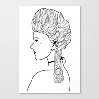 marie antoinette Canvas Prints featuring Marie Antoinette by Nicholas Darby
