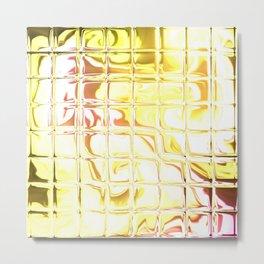 Square Glass Tiles 43 Metal Print