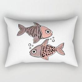 Animal Print - quirky mix of nature's works of art Rectangular Pillow