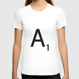 Letter A - Custom Scrabble Letter Wall Art - Scrabble A T-shirt