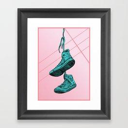 Converse Online Bubblegum Framed Art Print