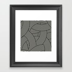 New Weave in Black Framed Art Print