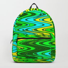WAVY #2 (Greens, Yellows & Light Blues) Backpack