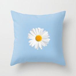 daisy blue Throw Pillow