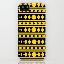 Tribal Yellow Pattern iPhone Case