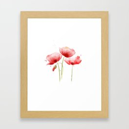 Poppy flowers Framed Art Print