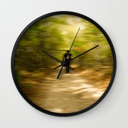 man in the forest Wall Clock