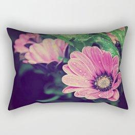 Thaw drops on flower Rectangular Pillow