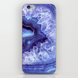 Periwinkle Blue Quartz Crystal iPhone Skin