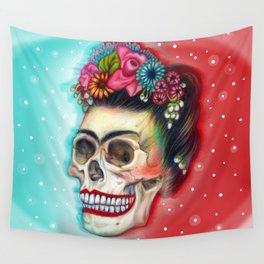 Frida's Skull ~Variation Wall Tapestry