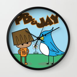 PB & Jay Wall Clock